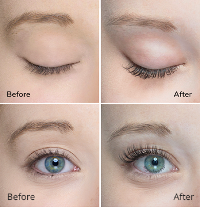 222e09d1821 Classic Eyelash Extensions Before and After Photo in Houston TX